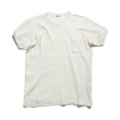 60's〜 BLOOMINGDALE'S Cotton T-Shirts with Pocket (about M) コットン ポケットTシャツ ポケT 白