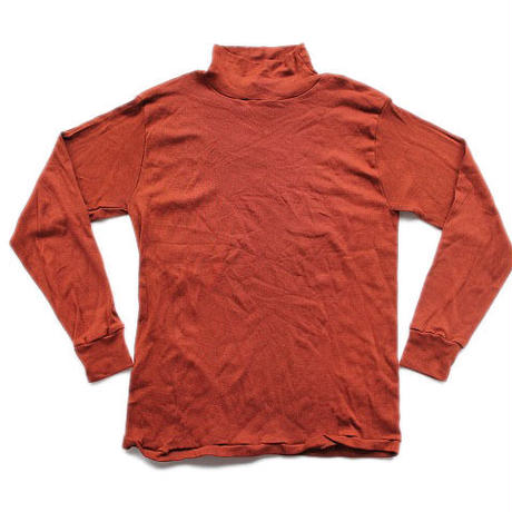 NOS 70's USN JERSEY, IDENTIFICATION, FLIGHT DECK CREW (XL) USネイビー デッドストック フライトデッキクルー用 モックネックTシャツ