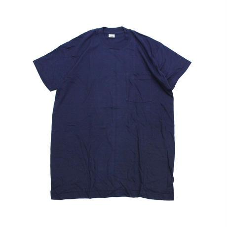 NOS 80's FRUIT OF THE ROOM COTTON T-Shirts with Pocket NAVY(XL) デッドストック フルーツ オブ ザ ルーム ポケットTシャツ ポケT 紺