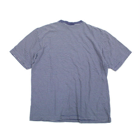 90's J.C. PENNEY ST.JOHN'S BAY STRIPED COTTON T-SHIRT BLUE/WHITE(M) JCペニーボーダーTシャツ