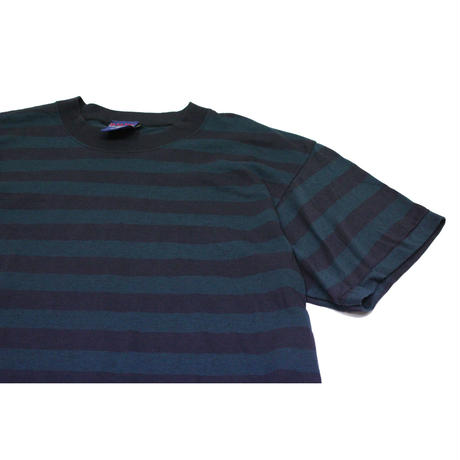 NOS 90's b.u.m equipment STRIPED COTTON T-SHIRT MADE IN USA (L) デッドストック ボーダーTシャツ