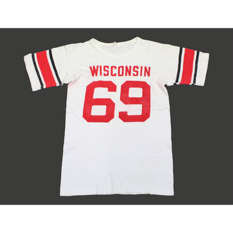 60's CHAMPION Football T-SHIRTS (M) チャンピオン ナンバリング フットボールTシャツ 染み込み ランタグ