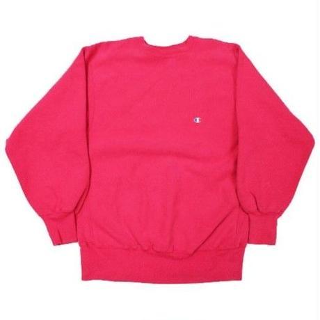 90's Champion Reverse Weave Sweat Shirt Pink (XL) チャンピオン リバースウィーブ ショッキングピンク 無地 目付き