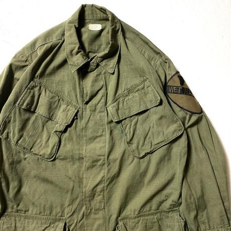70's COAT,MEN'S,COTTON W/R RIP-STOP POPLIN ,OG 107  (SMALL-REGULAR) 4th後期 ジャングル ファティーグ リップストップ