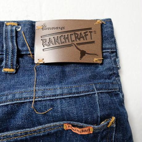 60's 70's Penny's RANCHCRAFT Denim Pants (about33×30) ぺニーズ ランチクラフト ストレート 5ポケット デニムパンツ