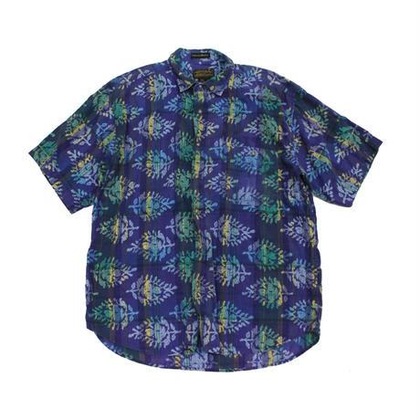 80's〜 Eddie Bauer INDIA MADRAS S/S Shirts (XL) エディーバウアー  マドラスチェック ショートスリーブシャツ 総柄