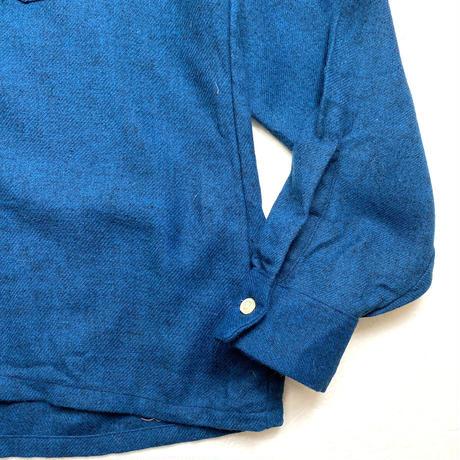 60's  VAN HEUSEN Open Collar Wool Shirt (M) ヴァン ヒューゼン オープンカラー ウールシャツ