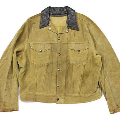 50's LEVI'S SHORT HORN SUEDE JACKET (46?)リーバイス ショートホーン スエードジャケット