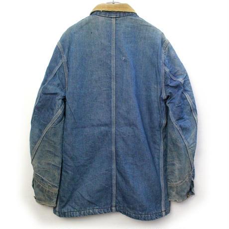 1940's~ Lee 81-LJ DENIM Chore Jacket (38 REG) リー ブランケットライナー デニム カバーオール