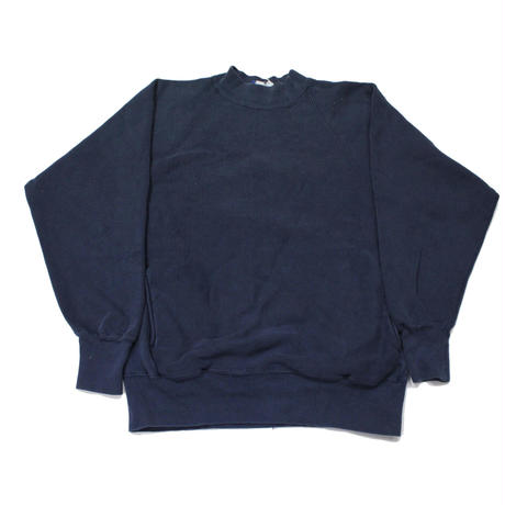 90's Champion Reverse Weave Sweat Shirt With Pocket (L) チャンピオン リバースウィーブ モックネック ポケット付 紺 ネイビー  無地 目無し