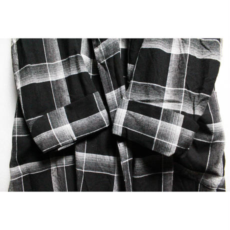 NOS 60's  Penny  Plaid Rayon Gown Black (M) デッドストック チェック レーヨンガウン 黒