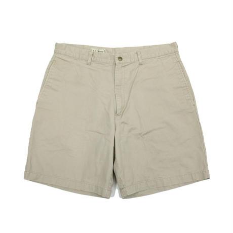 90's L.L.Bean New Washed Twill Walking Shorts Plain (35) LLビーン ノータック コットン チノショーツ カーキ