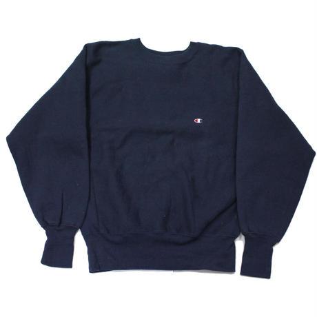 90's Champion Reverse Weave Sweat Shirt Navy (M) チャンピオン リバースウィーブ 紺 無地 目付き