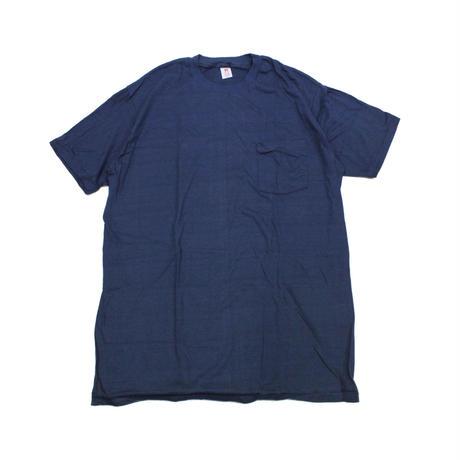 NOS 80's HANES T-Shirts with Pocket NAVY(XL) デッドストック ヘインズ コットン ポケットTシャツ ポケT 紺ネイビー