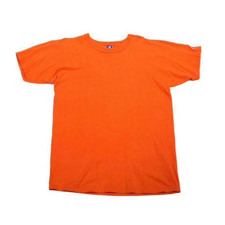 90's CHAMPION PLAIN T-SHIRTS Orange (XL) チャンピオン コットン Tシャツ 無地 オレンジ