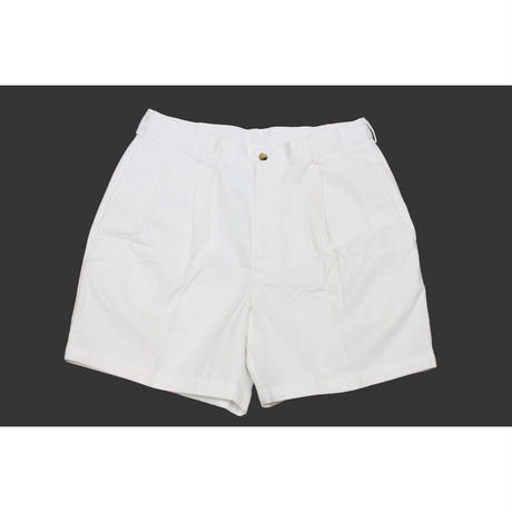 NOS 90's LANDS'END PLEATED CHINO SHORTS (34) デッドストック ランズエンド 2タック チノショーツ 白