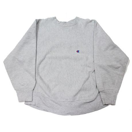 80's Champion Reverse Weave Sweat Shirt Gray (L) チャンピオン リバースウィーブ 霜降り灰 無地 目付き