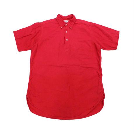 60's gant Pullover Oxford B.D.Shirts (15) ガント プルオーバー 3点留め オックスフォード ボタンダウンシャツ  マチ付き 赤