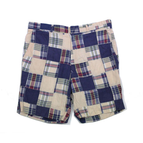 70's ENGLISH SPORTS SHOPS INDIA MADRAS PATCHWORK Short (36) マドラスチェック パッチワークショーツ