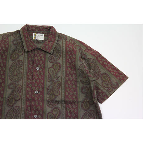 60's Acapulco Paisley All Over Print S/S SHIRT (L) ペイズリー 総柄プリント ショートプリントシャツ