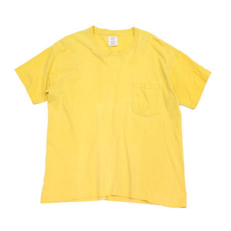90's GAP COTTON T-Shirts with Pocket Yellow (S) ギャップ コットン ポケットTシャツ ポケT 黄色