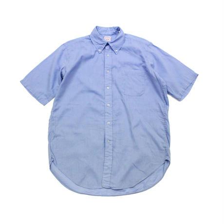 90'sBROOKS BROTHERS Cotton × Linen S/S BD SHIRT Blue (15 1/2) ブルックスブラザーズ ボタンダウンシャツ 半袖