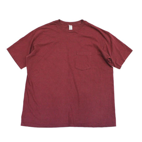 90's GAP COTTON T-Shirts with Pocket Maroon (L) ギャップ コットン ポケットTシャツ ポケT マルーン系