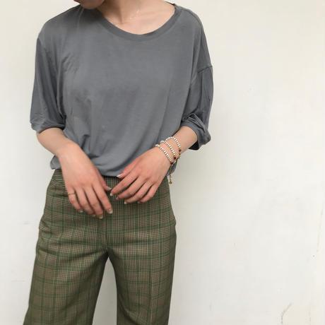 """ARMANI"" オーバーサイズ無地Tシャツ グレー"