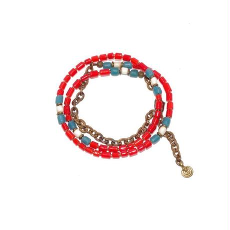 Melting pot by Lakeman 2-Way Necklace RED