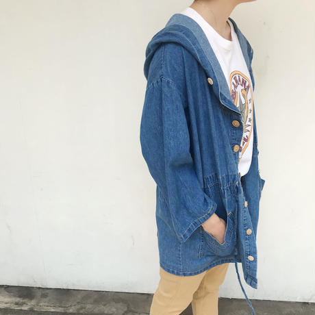 """90's """"GUESS"""" Made In USA デニムライトパーカー"""