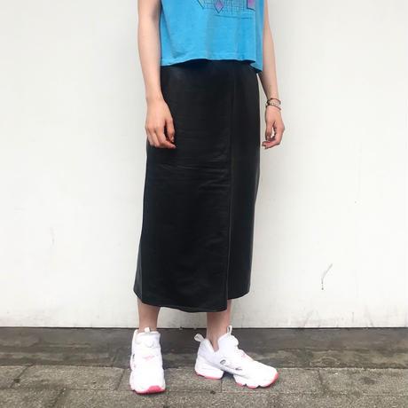 レザーロングスカート