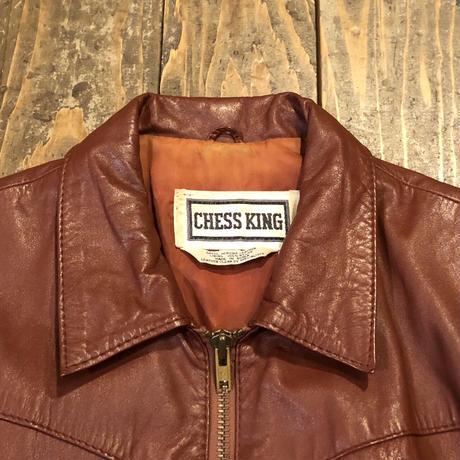 70's CHESS KING レザージャケット