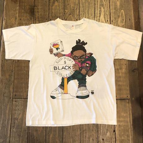 90's HBCU 両面プリントTシャツ
