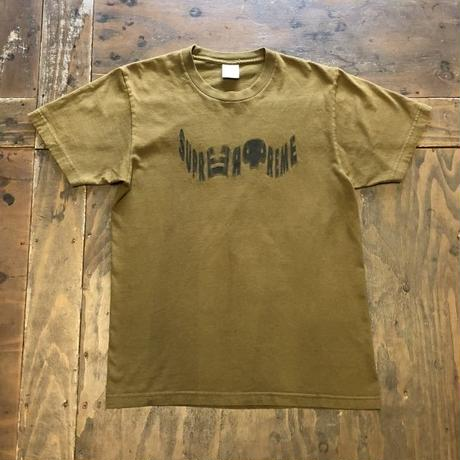 "90's~00's ""Supreme"" scull print made in usa"