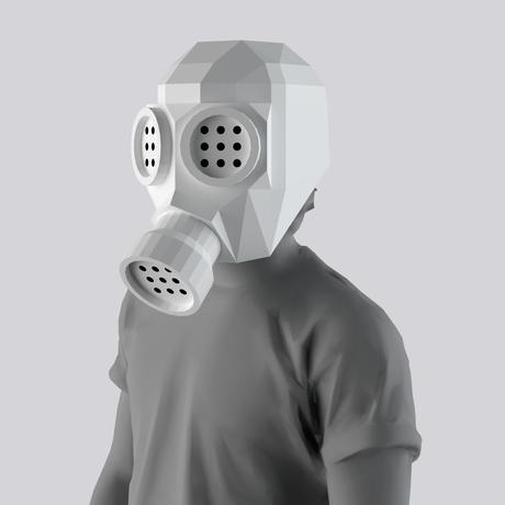 [日本語版] THE ONE|ガスマスクのペーパークラフト用テンプレート