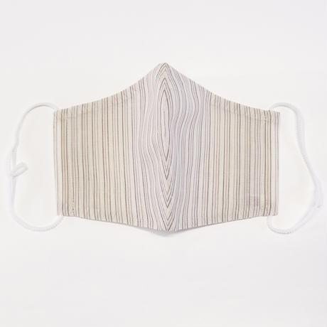 ひんやりマスクカバー / 赤三筋縞 アイボリー