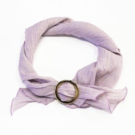 スカーフ / 万筋 縞 淡紅紫
