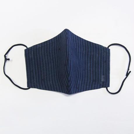 ひんやりマスクカバー / 経絣 紺