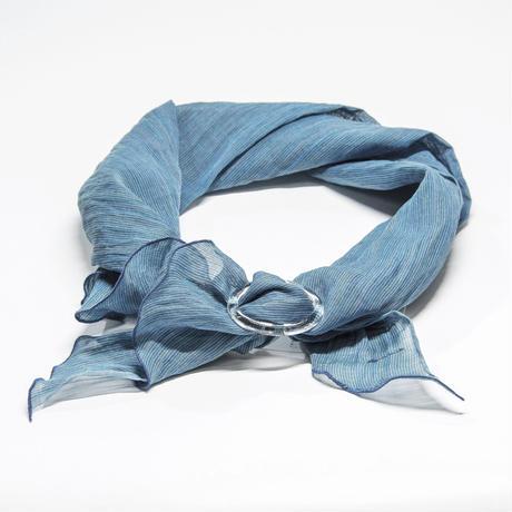スカーフ / 万筋  縞  渋青