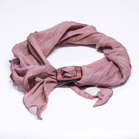 スカーフ / 万筋  縞 渋赤紫