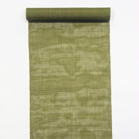 【 織元 在庫品 】能登上布  着物反物 / 等縞 渋緑
