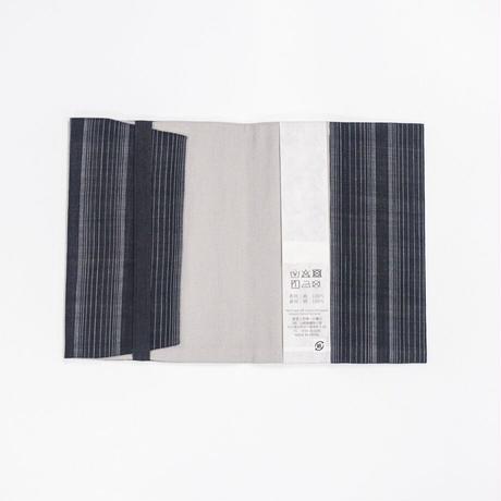 ブックカバー / 着尺地 / 十字絣 黒