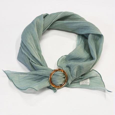 スカーフ / 万筋 縞 青竹