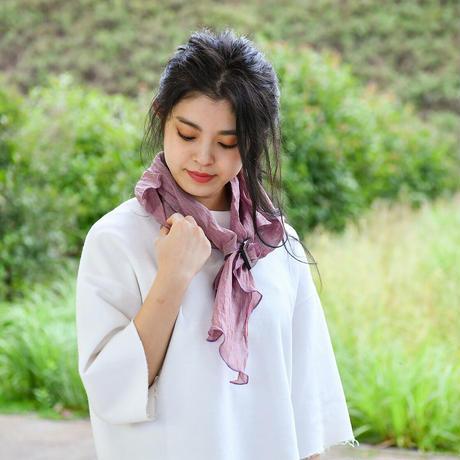 スカーフ / 万筋 縞 渋紫