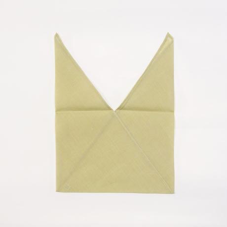 あづま袋 / 万筋 縞 薄黄緑