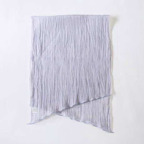ショートストール / 雨絣 薄青紫