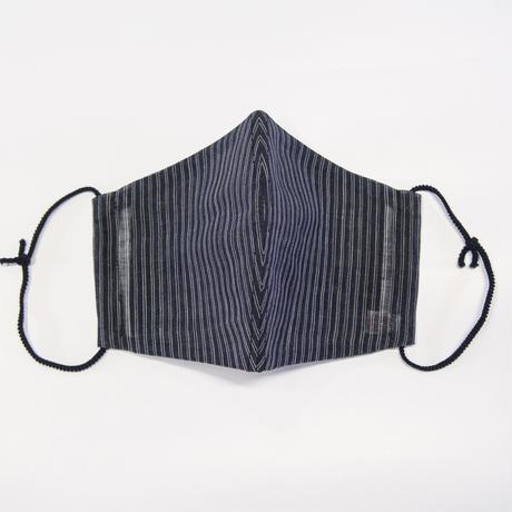 ひんやりマスクカバー / 金通縞 黒