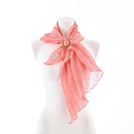 スカーフ / 万筋  縞 桃