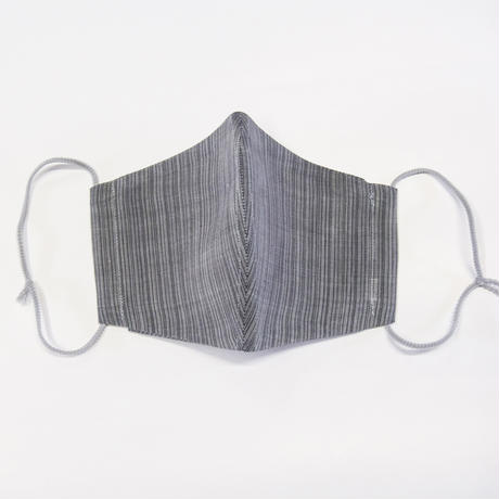 ひんやりマスクカバー / 滝縞 灰