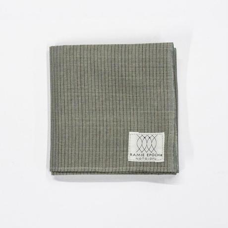 ハンカチ / 等縞 灰緑